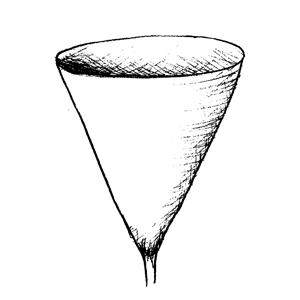 Obconical:|:倒圓錐形的:|:倒圆锥形的
